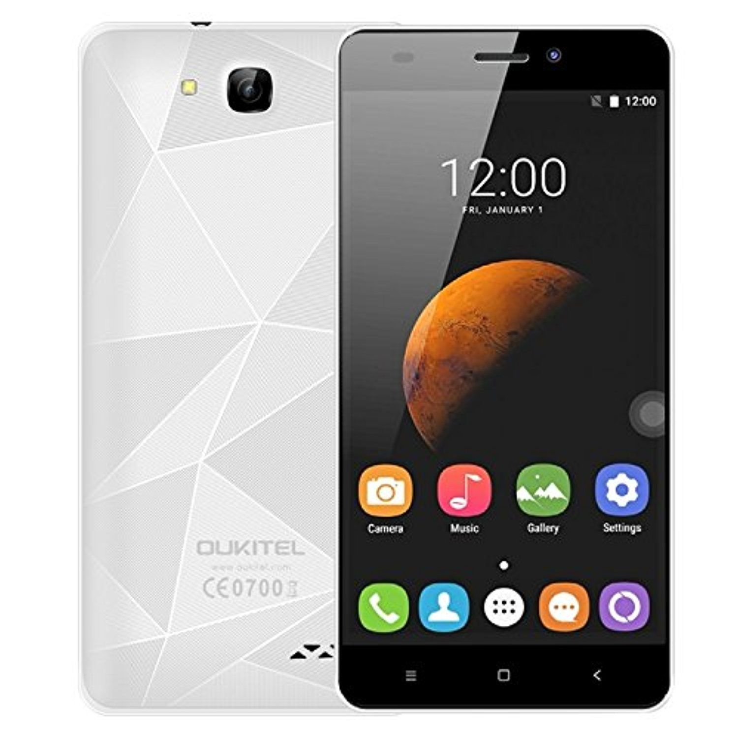Generic OUKITEL C3 8GB, Network: 3G, 3D Diamond Designed Back Cover, 5.0 inch Android 6.0 MT6580 Quad Core 1.3GHz, RAM: 1GB(White) -- Awesome products selected by Anna Churchill
