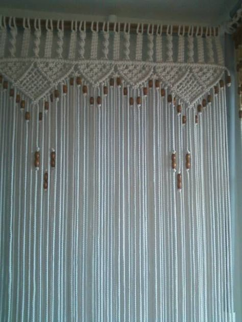 Bead Fringed Door Curtain Macrame For a Door by