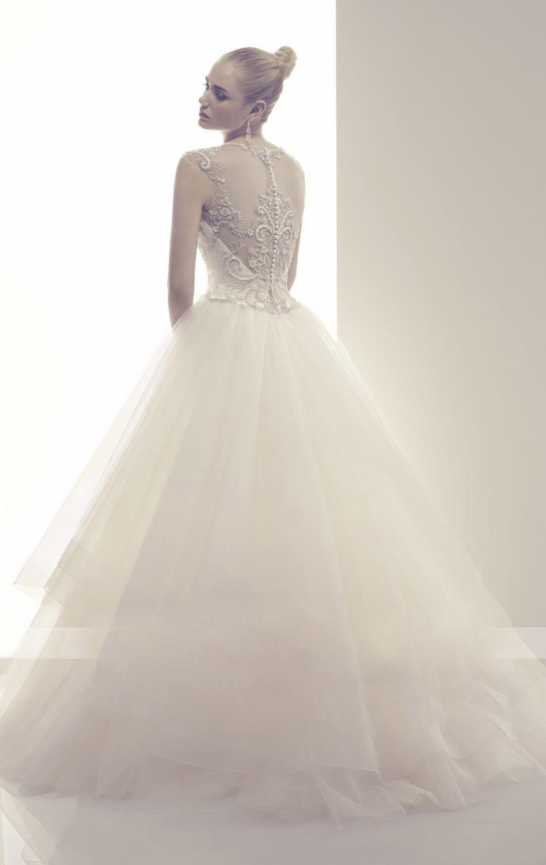 Wedding dresses with beading  Elegant WhiteIvory Lace Tulle Wedding Dresses Beading Bridal Gowns