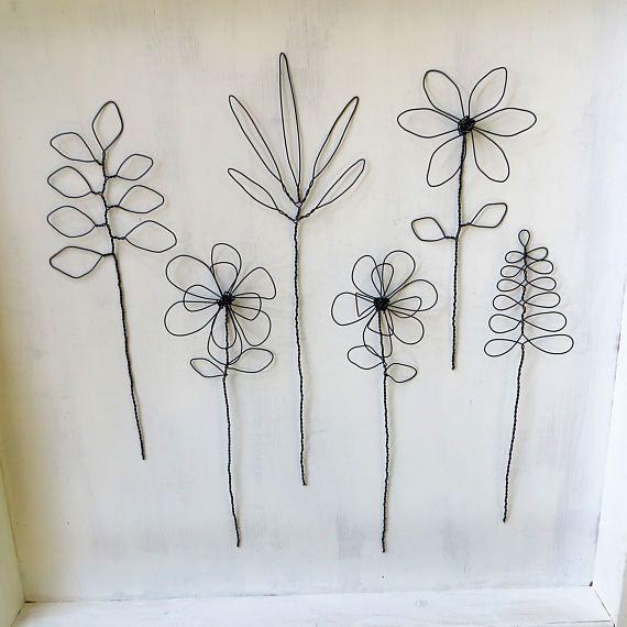 Wire Flowers, Bouquet, Floral Arrangement