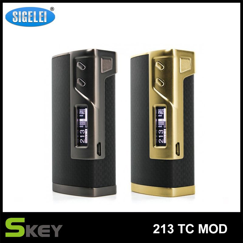 Find More Batteries Information about Original Sigelei 213 TC Mod  10W 213W Adjustable Temperature Control 18650 Battery not include Electronic Cigarette Box Mod ,High Quality box user,China box bicycle Suppliers, Cheap box running from Skey E-Cigarette Store on Aliexpress.com