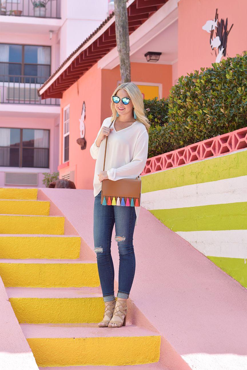 f19140f2029b34 Rebecca Minkoff Sophia Clutch - Spring Break Outfit Inspo