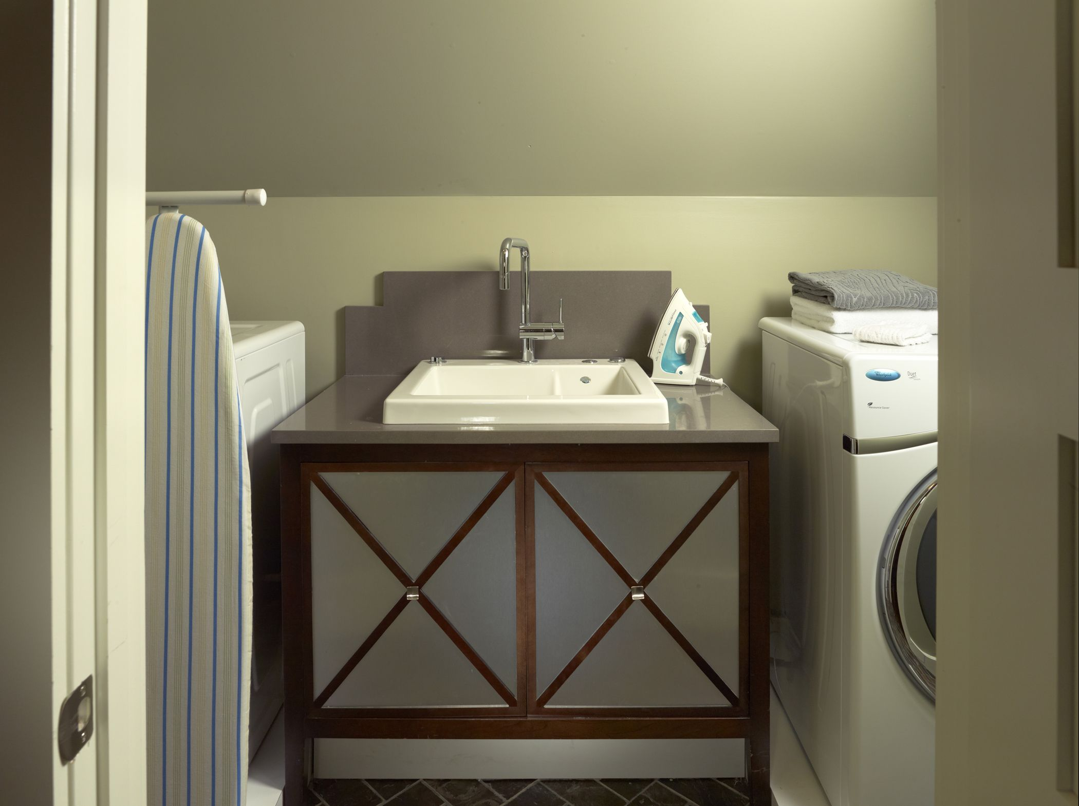 MTI Jentle Jet® Jetted Laundry Sink In The Laundry Room.