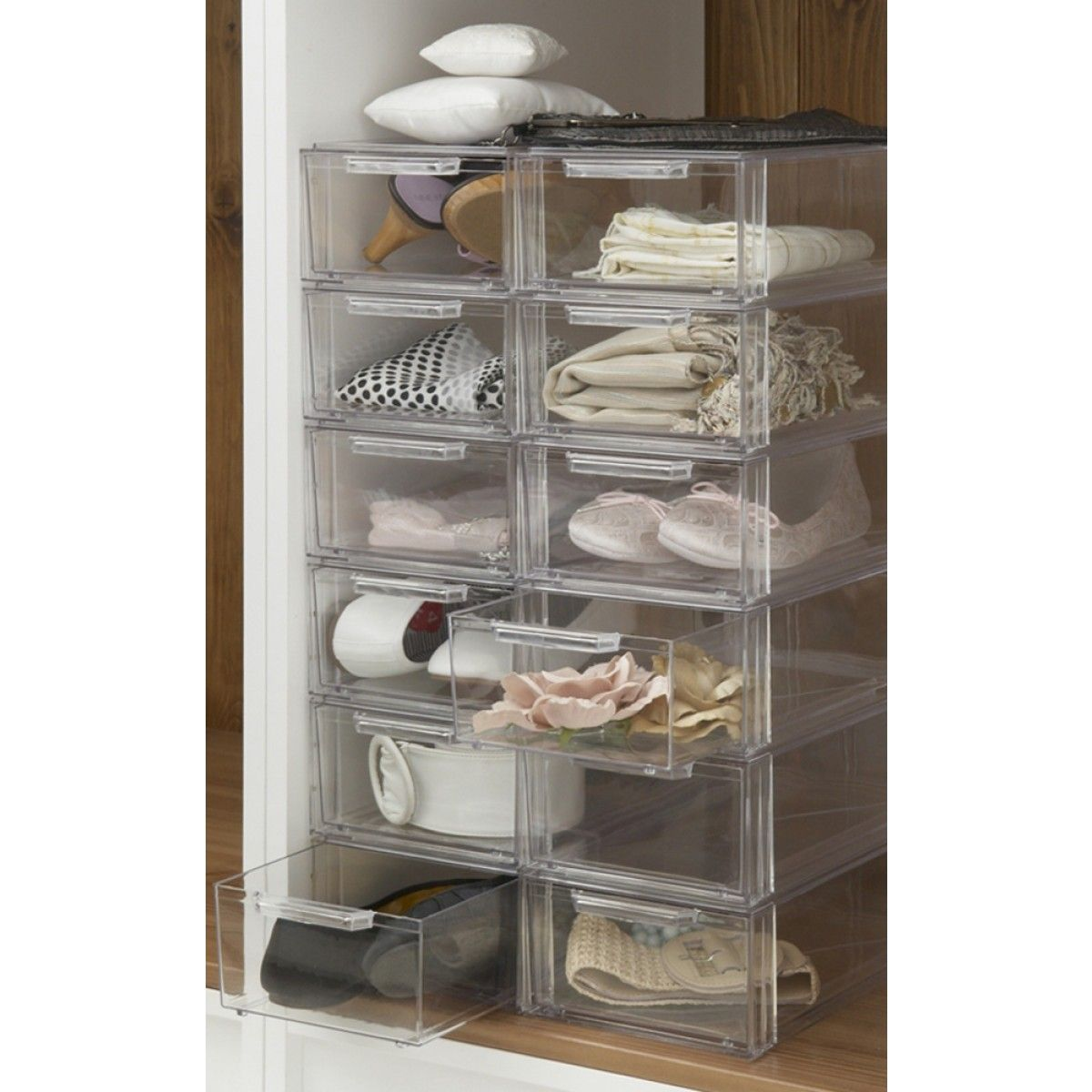 Stackable Shoe Drawer Shoe Drawer Plastic Storage Drawers Shoe