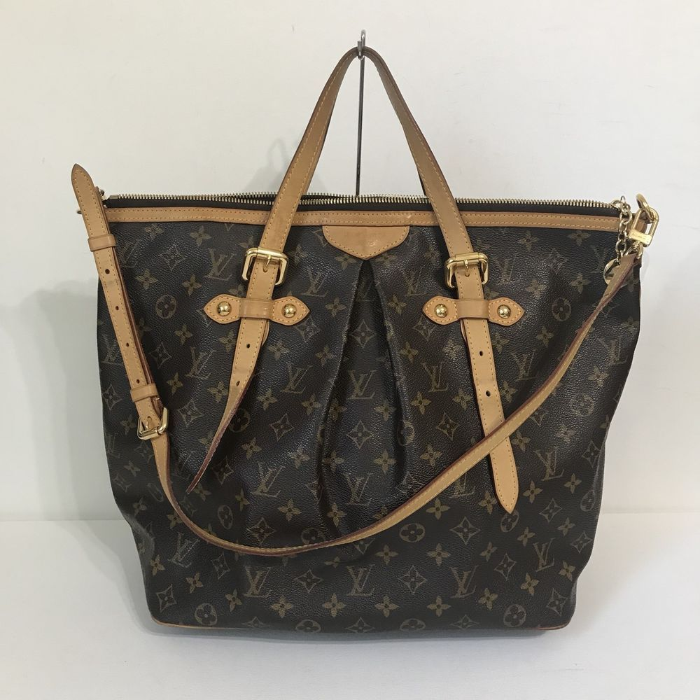 Louis Vuitton Tivoli Vs Palermo Authentic Louis Vuitton Monogram Palermo Gm Tote Shoulder Bag In