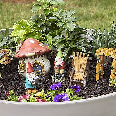 Fairy Garden Gnomes Miniatures Kit Set For Outdoor Decor Miniature Gift Statue With Images Fairy Garden Fairy Garden Gnomes Fairy Garden Kit