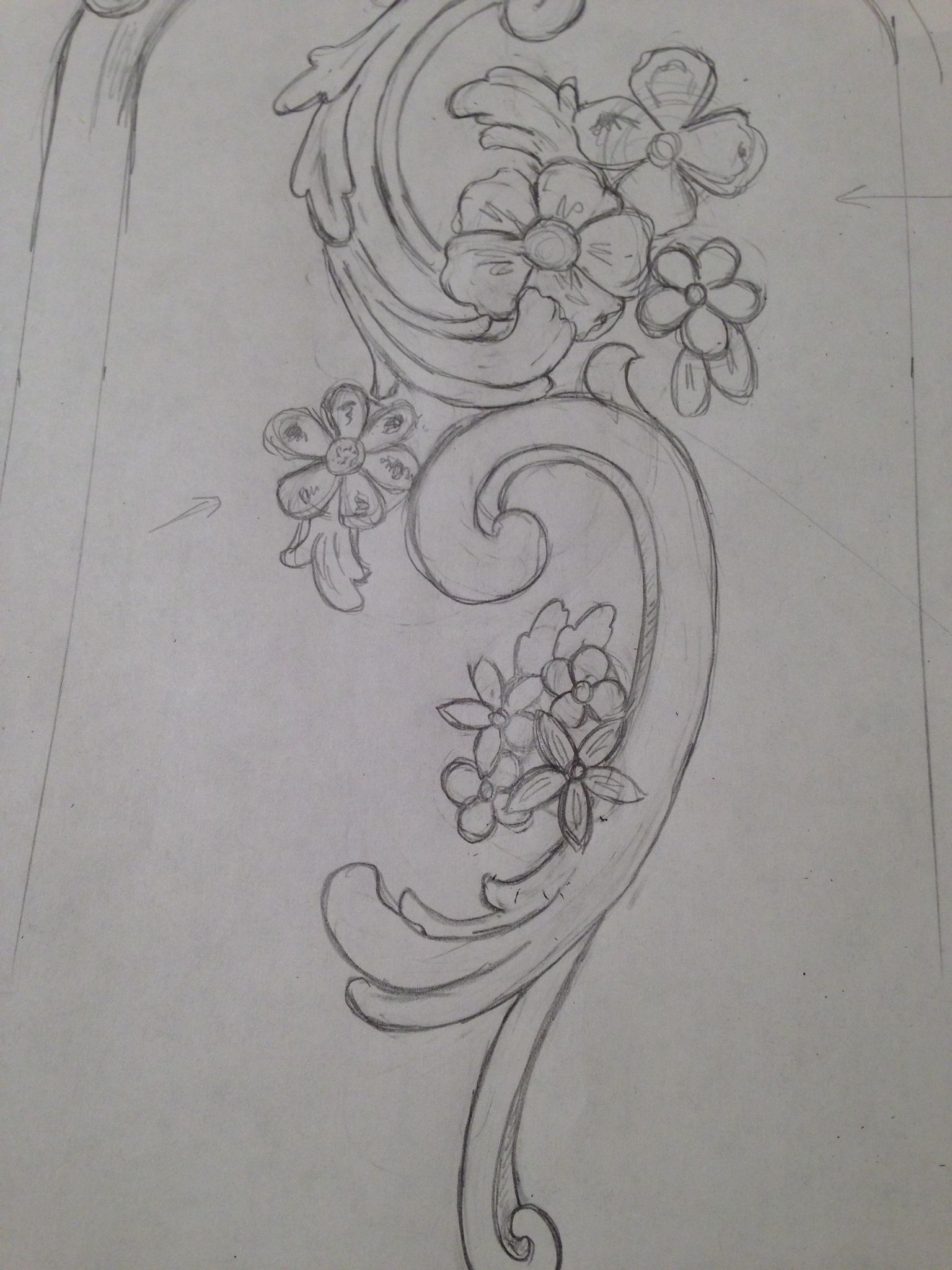 Pilaster detail. Full scale carving designs underway for the next ...