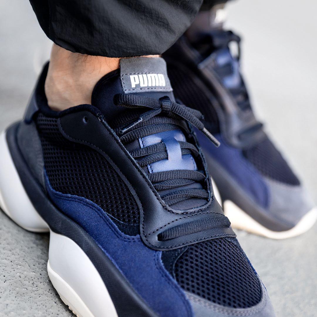 Puma Unisex Sneaker Alteration Kurve No Mesh Grey in schwarz