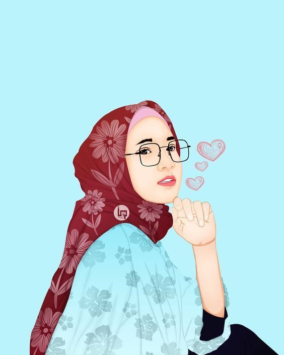 150 Gambar Kartun Muslimah Berkacamata Cantik Sedih Terlengkap Ilustrasi Karakter Lukisan Keluarga Ilustrasi