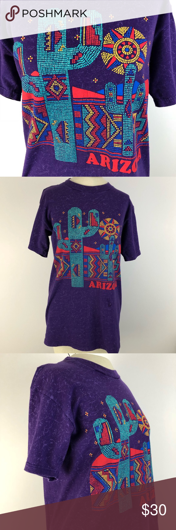 ARIZONA cactus colorful design purple tee medium Awesome Arizona shirt. Very colorful and intricate design. Pictures don't do it justice. Vintage feel. Speckled purple t shirt color. Size medium. Bundle to save! Tops Tees - Short Sleeve #arizonacactus ARIZONA cactus colorful design purple tee medium Awesome Arizona shirt. Very colorful and intricate design. Pictures don't do it justice. Vintage feel. Speckled purple t shirt color. Size medium. Bundle to save! Tops Tees - Short Sleeve #arizon #arizonacactus