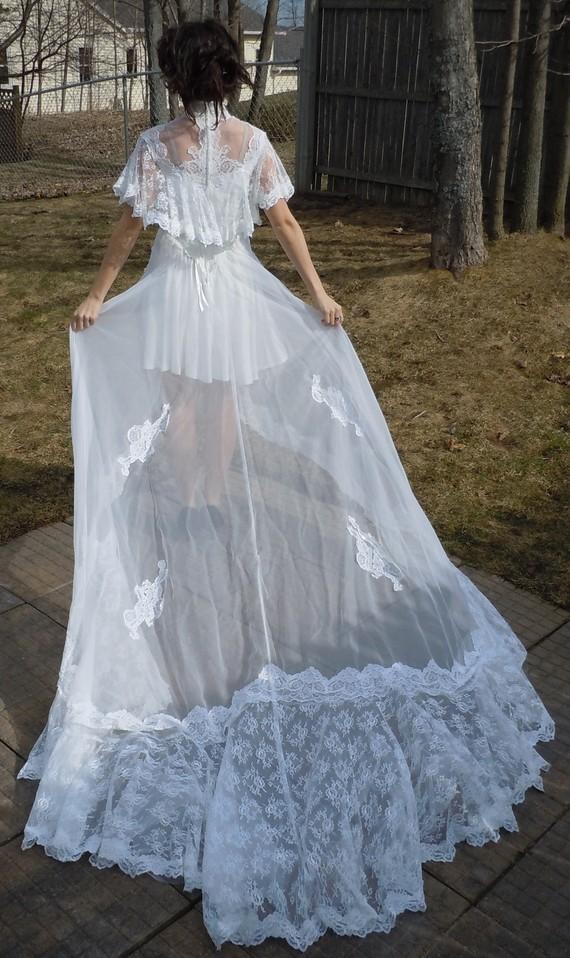 Lace Wedding Dress - Vintage / Upcycled