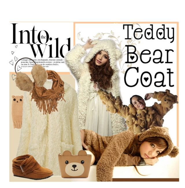 """""""Cozy Teddy Bear Coats"""" by synkopika ❤ liked on Polyvore featuring Anja, Brinley Co, Forever 21, Mix & Match and Uniqlo"""
