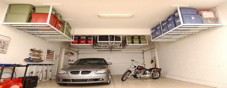 Pin By Andy Stringer On Household Garage Organisation Overhead Garage Storage Garage Interior