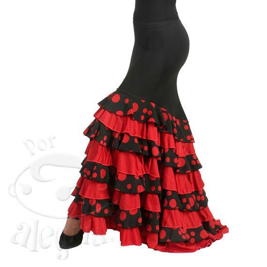 aaf19a83b Resultado de imagen para pollera flamenco | Spanish | Faldas ...