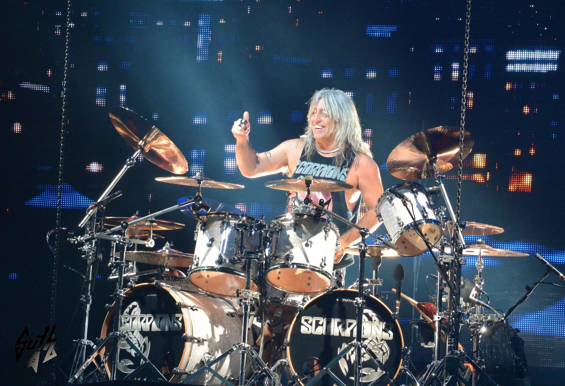 Mikkey Dee with the scorpions in Oakland | Mikkey dee, Drum kits ...