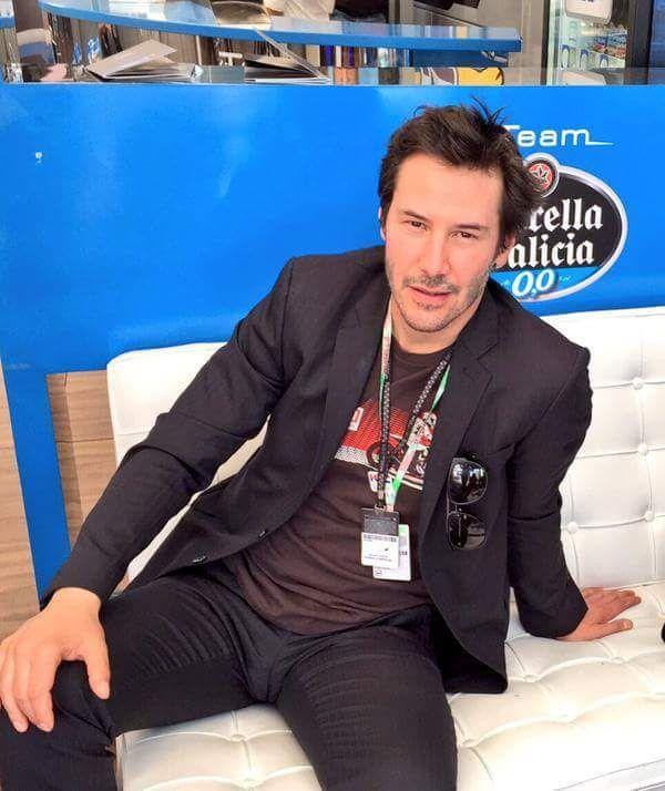 keanu reeves - Italian Moto GP May 30, 2015 (KarinaR)