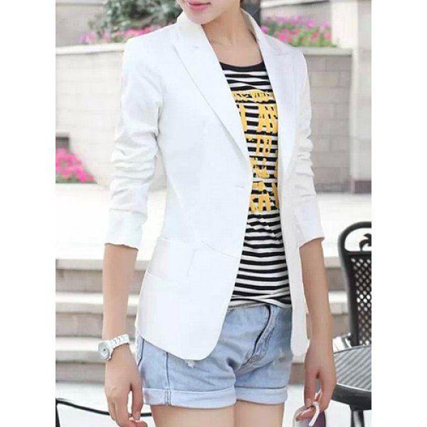 $17.93 Simple Lapel Long Sleeve Solid Color Women's Blazer