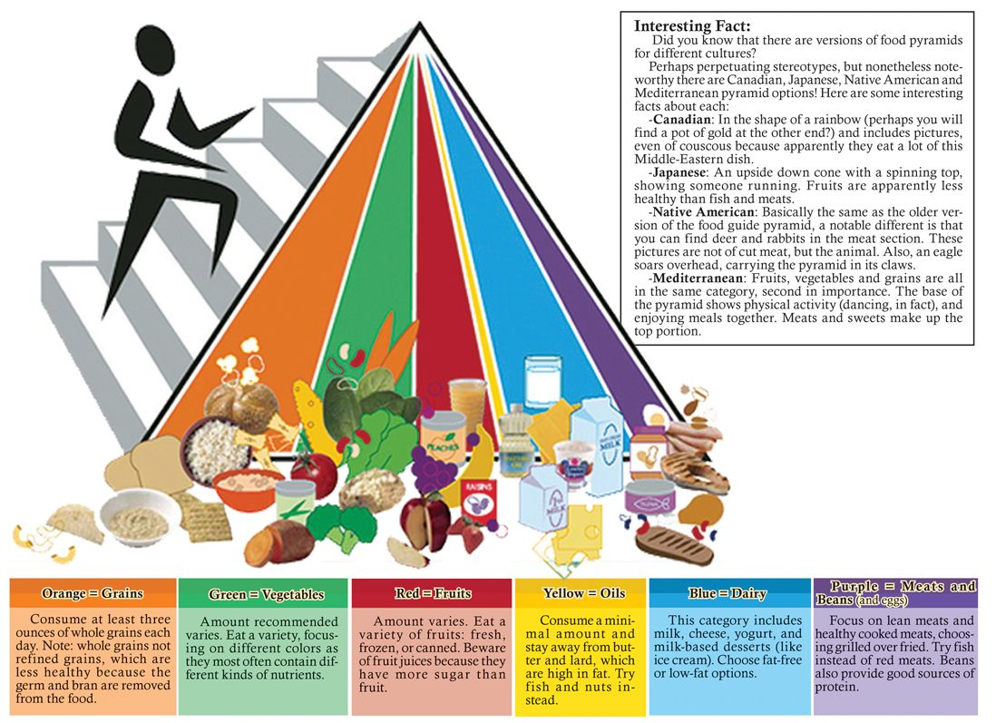 New Food Pyramid Encourages Personalizedt Active