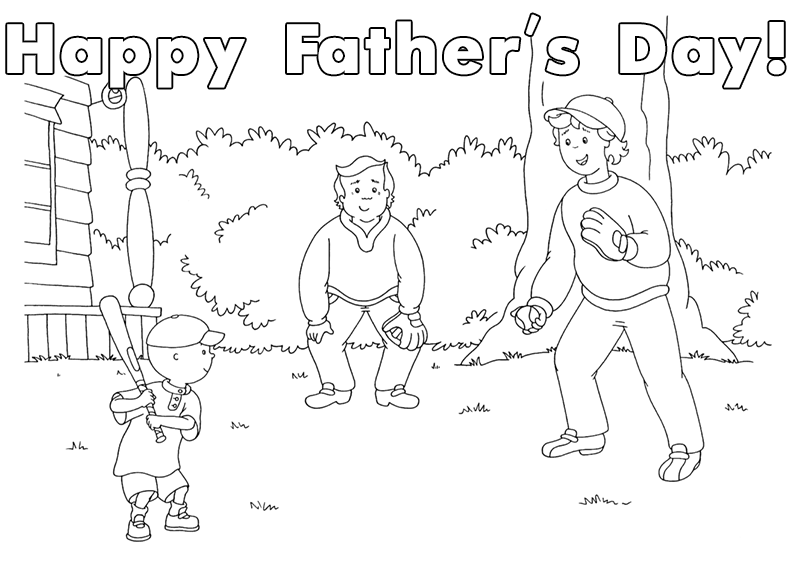 dad baseball coloring pages - photo#11