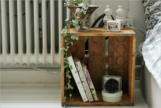 Pokoj Dzieciecy Meble Ze Skrzynek Szukaj W Google Crate Side Table Crate Nightstand Home Diy