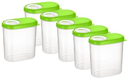 Haushaltsdose Gewürzdosen 0,30l 6er Set grün Gewürzdosen