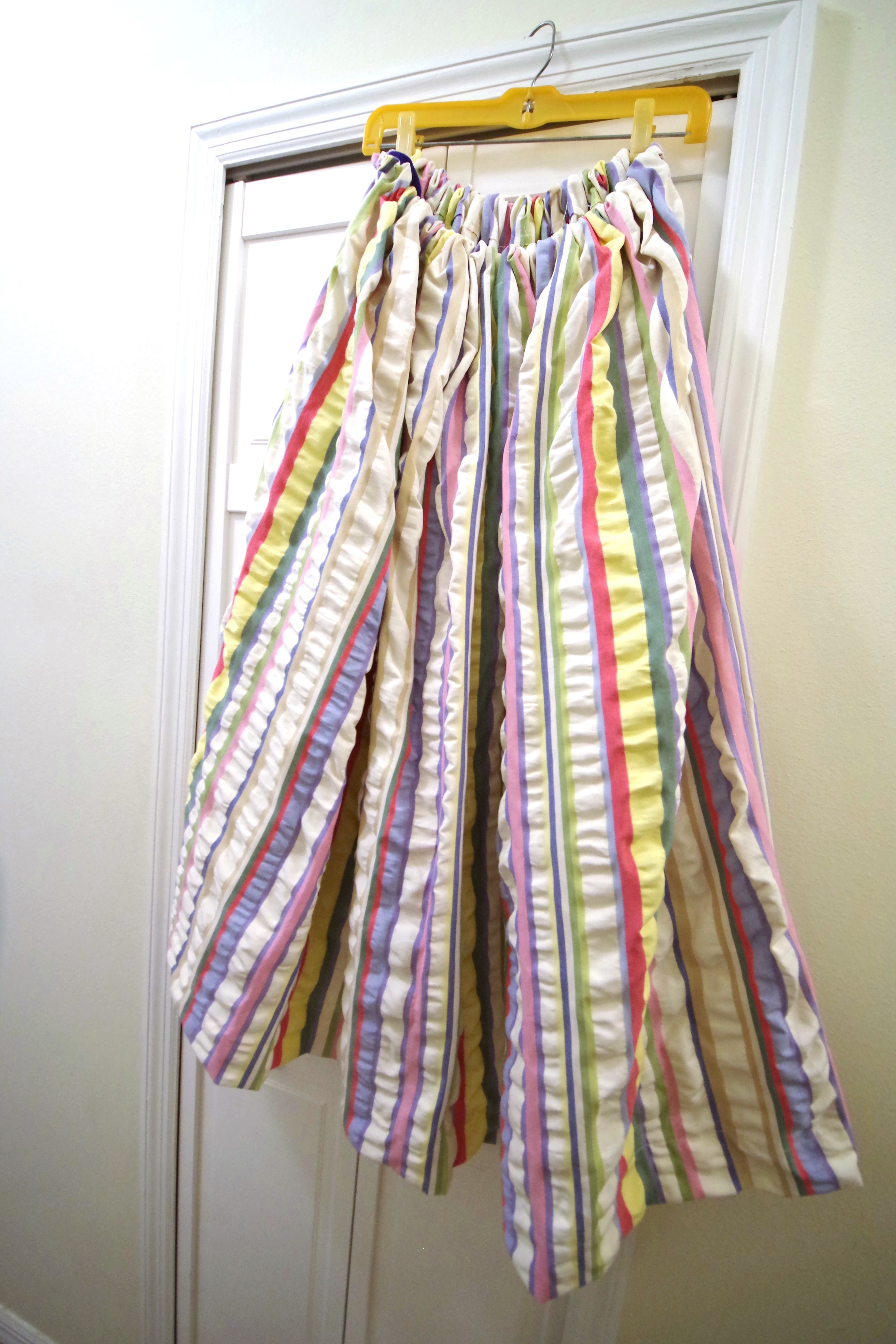 2b21340f55 seersucker multi colored pastel vertical striped maxi skirt ...