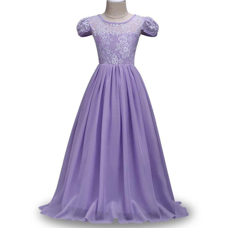 Lace chiffon Kids Girls Flower Dress Girl Dresses prom Wedding Party ...