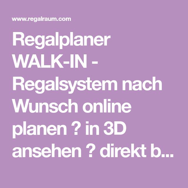 Walk In Regalsystem regalplaner walk in regalsystem nach wunsch planen in 3d