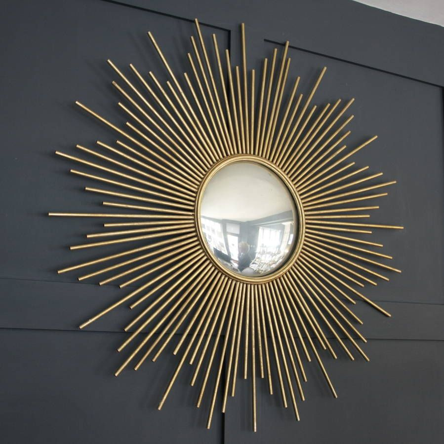 Large Gold Sunburst Wall Mirror By Ella James Sunburst Wall Decor Gold Sunburst Mirror Sunburst Mirror