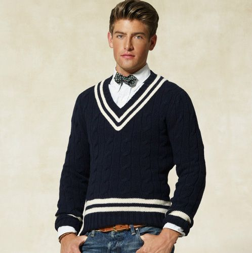 c718ea7fa86428 Ralph Lauren Rugby wool cricket sweater   Mens fashion   Sweaters ...