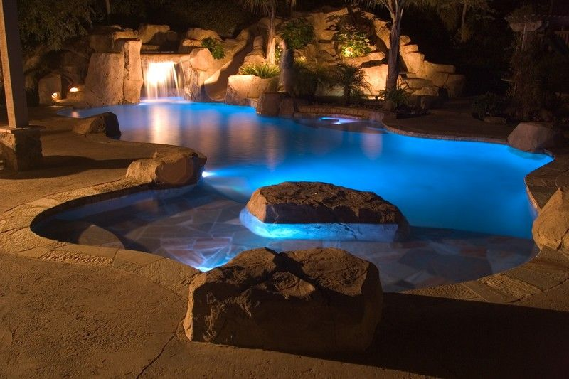 inground pools at night. Luxury Backyards And Pools | Dream Picture Gallery Night Blue Light Inground At