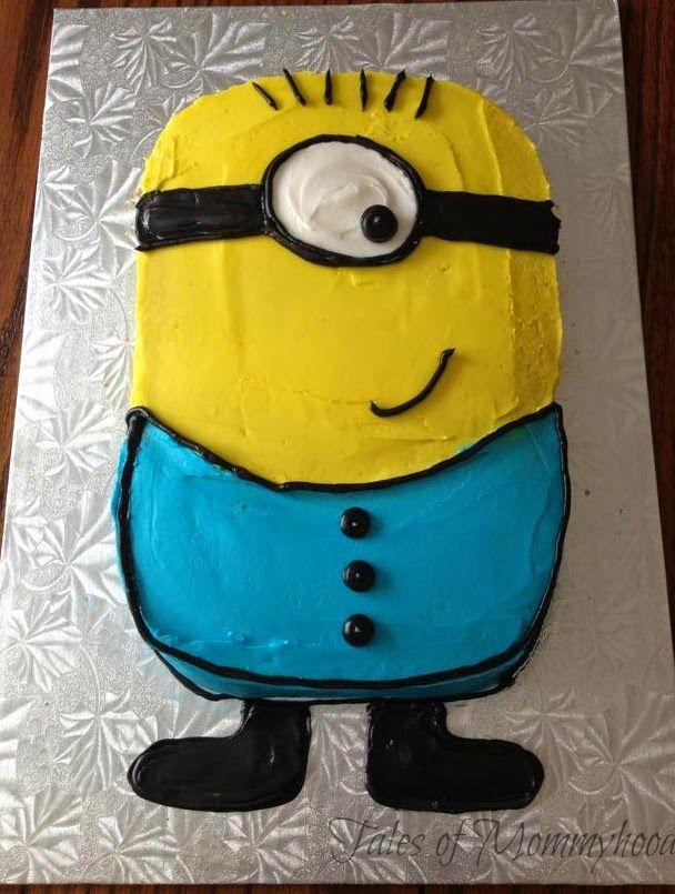 Phenomenal Diy Minion Cake With Images Minion Cake Diy Minion Cake Diy Funny Birthday Cards Online Alyptdamsfinfo