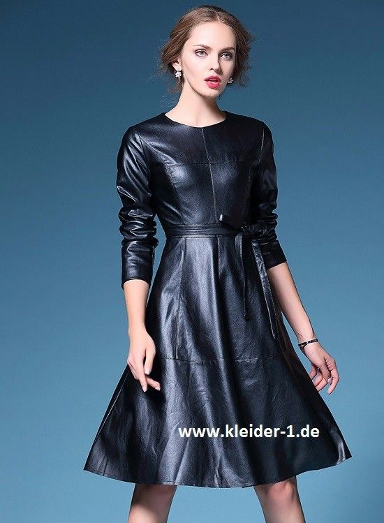 Damenkleid Dress In Pu SchwarzSexy Leder 1 Leather 35RAL4j