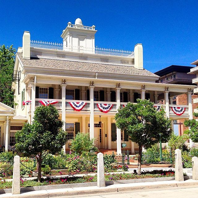 Salt Lake City Utah Houses: The Beehive House, Salt Lake City, UT. This Historic Home