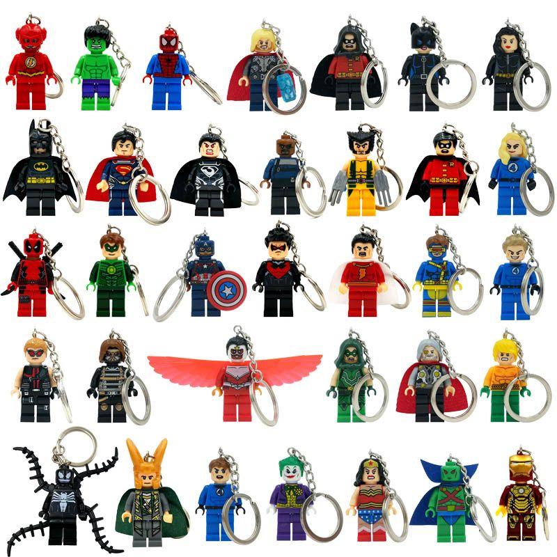 Llaveros Marvel Superheroes Llaveros Minifigures Llavero De Star Wars Keychain Batman Clave Anillo Ninja Bloques Juguetes Marvel Magnificos Superheroes Marvel