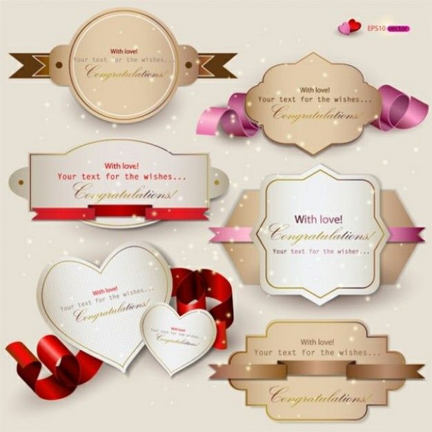 Gift cards with ribbon vectors Inspiration Pinterest Gift - new certificate vector free