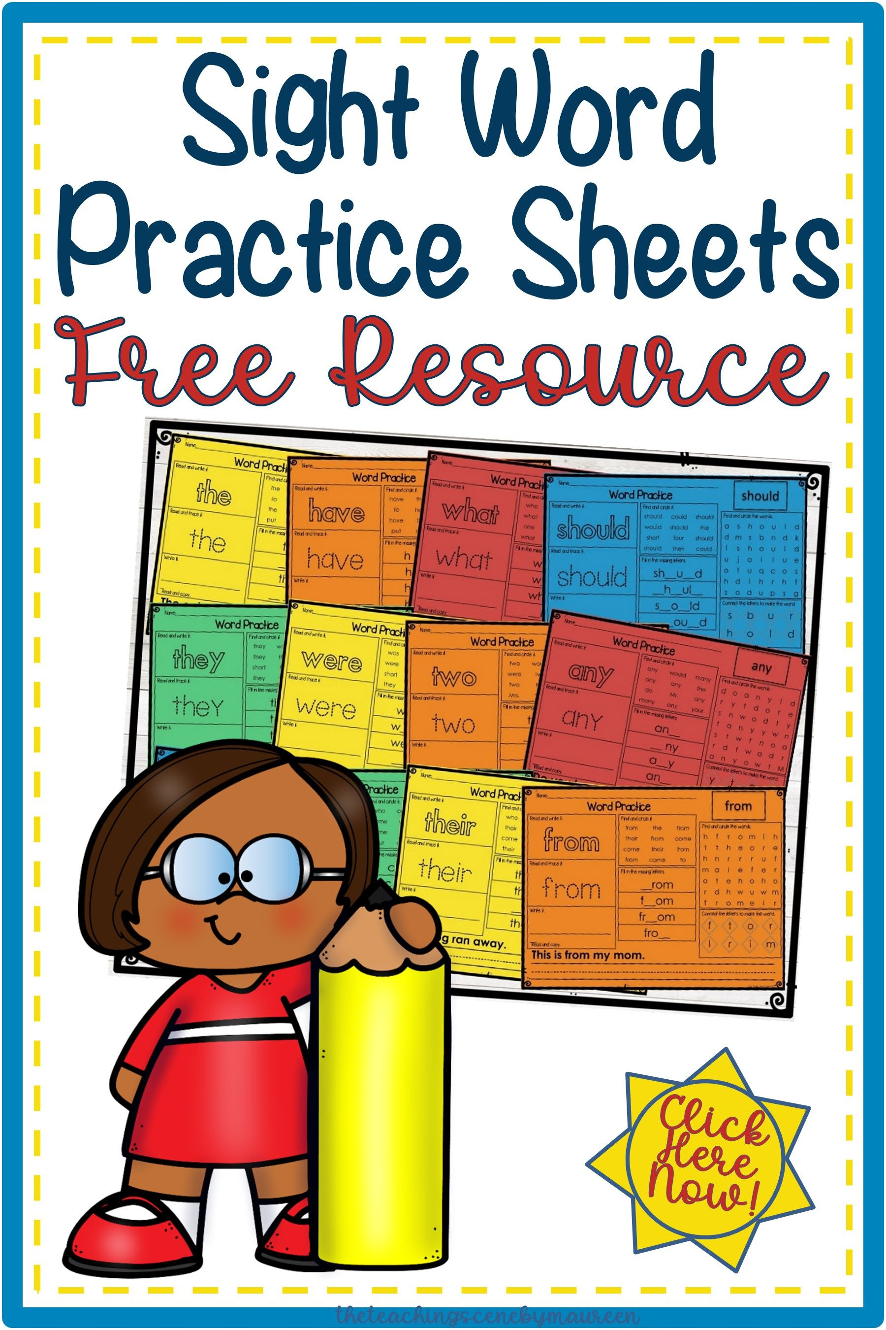 Free Sight Word Practice Sheets Sight Word Practice Sight Words Sight Word Worksheets [ 2700 x 1800 Pixel ]