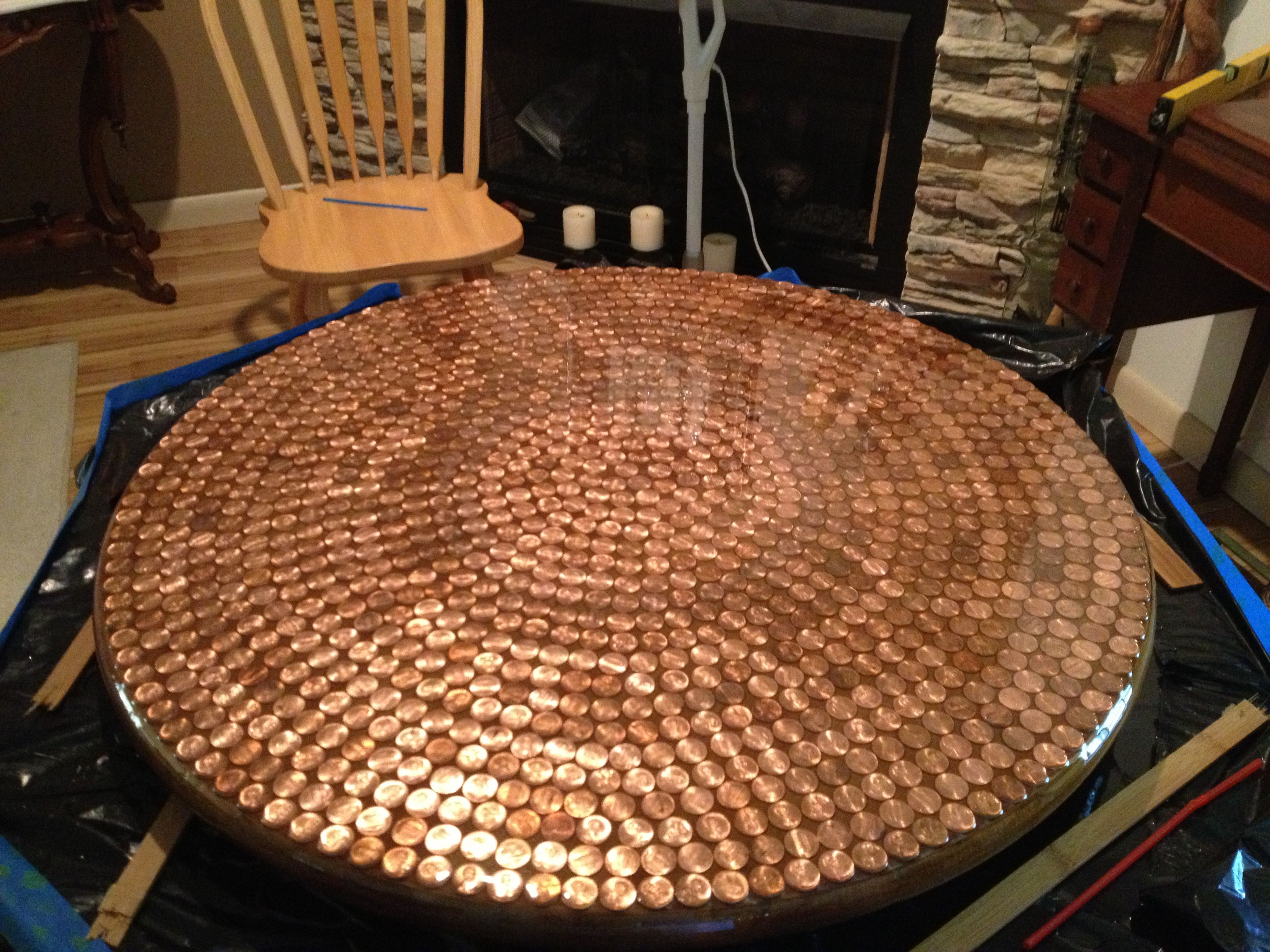 Penny Table With Resin Came Out Great Crafts Penny