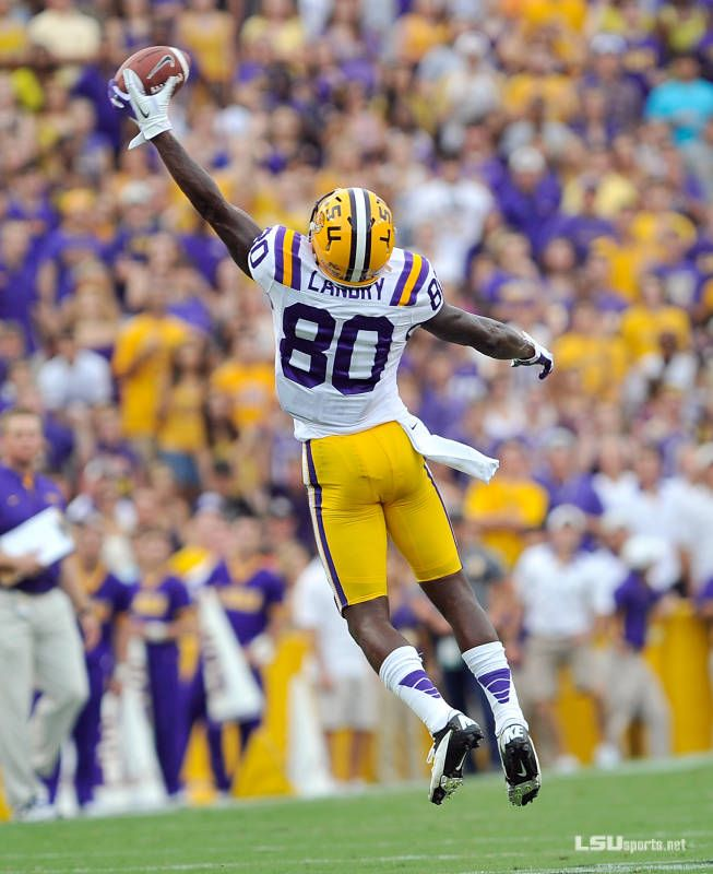 Football Vs North Texas Jarvis Landry Has The Greatest Hands College Football Players Lsu Football Nfl Football Players