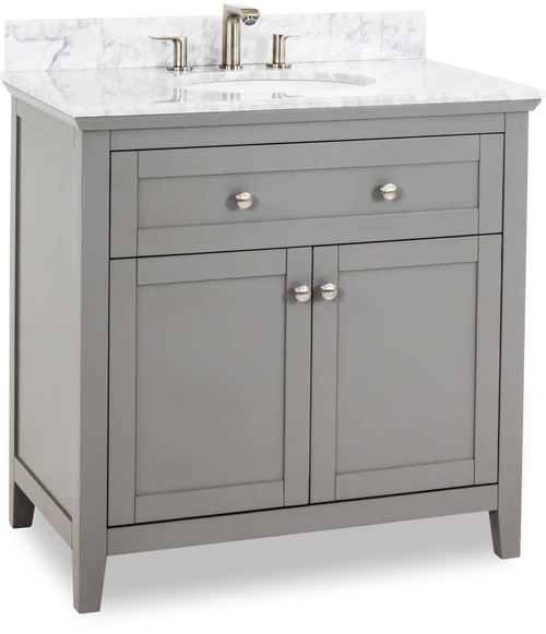 Best 36 Grey Jeffrey Alexander Vanity From The Chatham Shaker 400 x 300