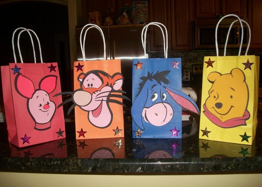 winnie the pooh baby shower gift bags