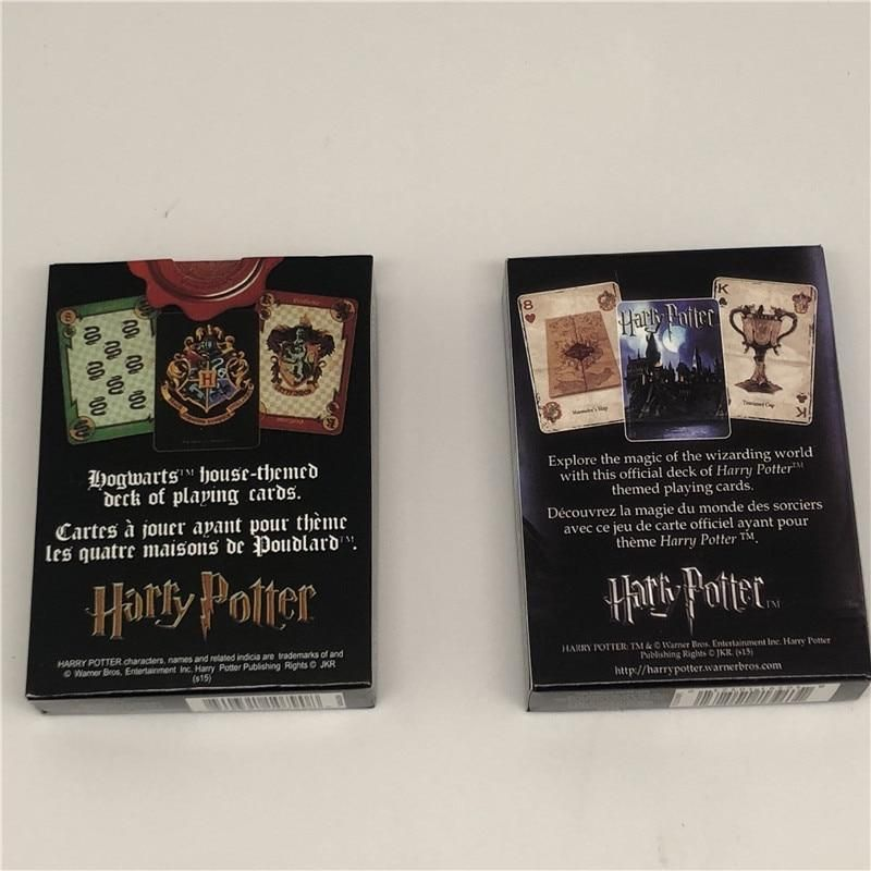 For Harry Potter Playing Cards Symbols Hogwarts House Poker Deck Game Xmas Gift