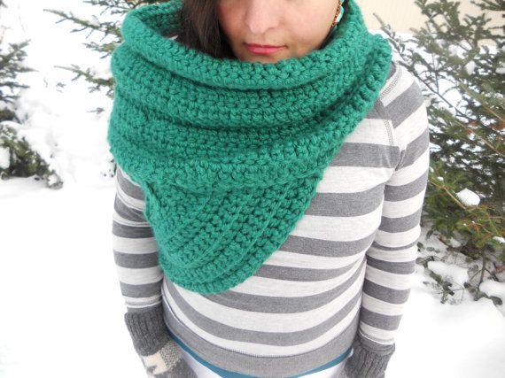 Kat Cowl~ Wool Blend (Scarf Shawl Hunter Huntress Vest Sweater Cross ...