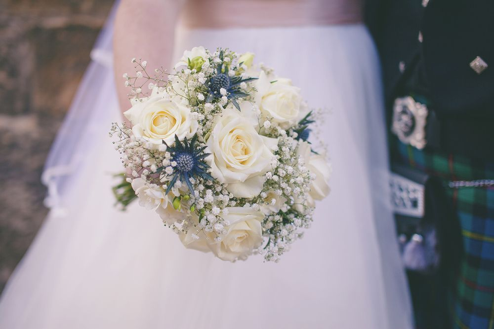 How striking is this? Add a thistle or two to your bouquet to celebrate your Scottish heritage on the big day.