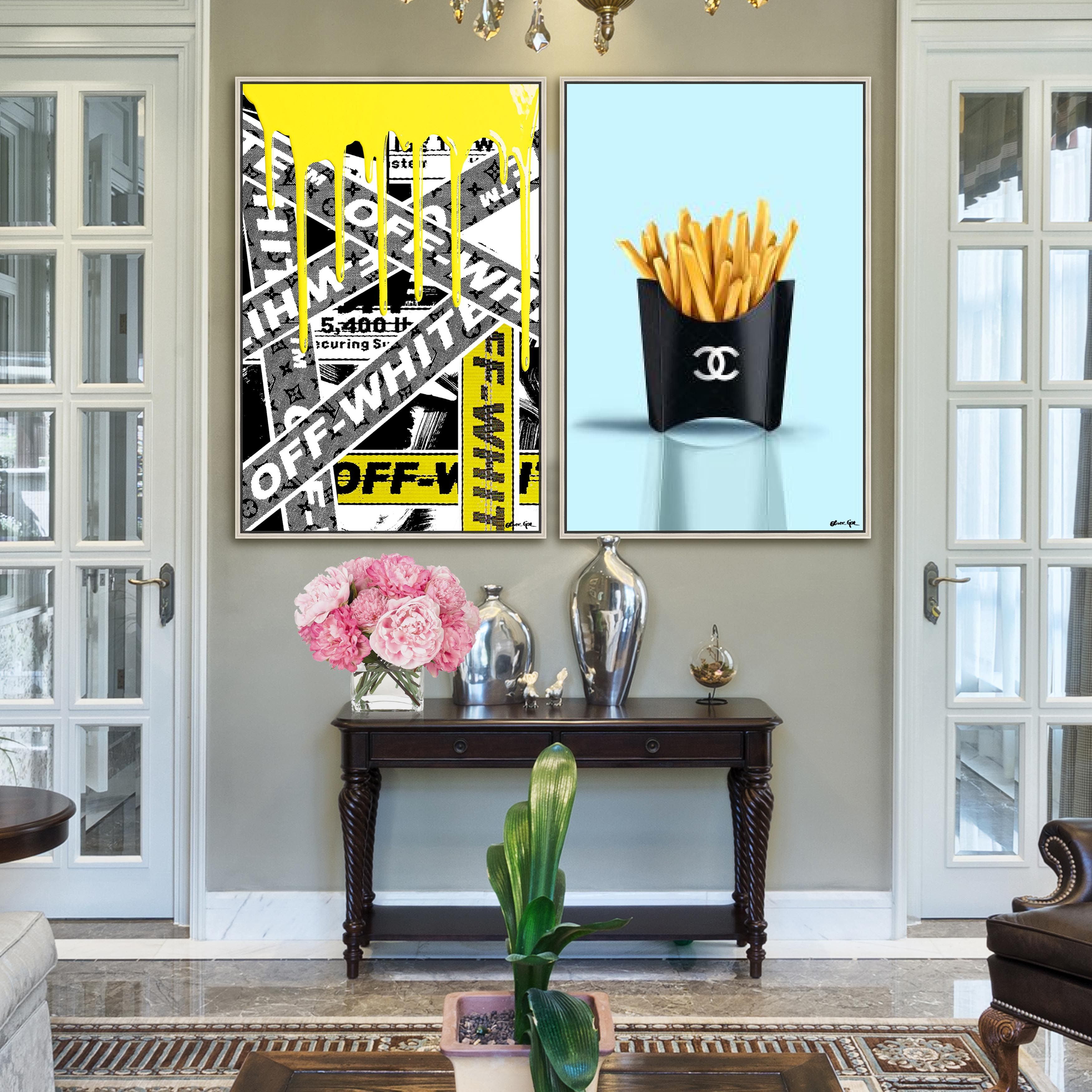 Chanel Fries And Off White Wall Decor Colorful Wall Art Fashion Wall Art White Wall Decor