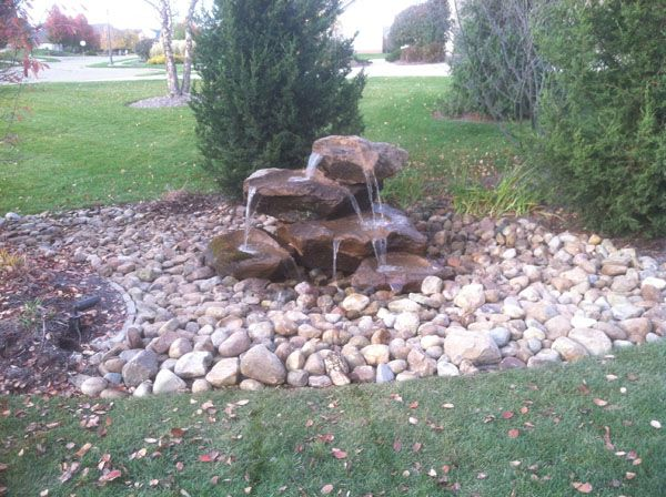 Tiered Rock Water Feature Landscaping Water Feature Diy Garden Fountains Water Features