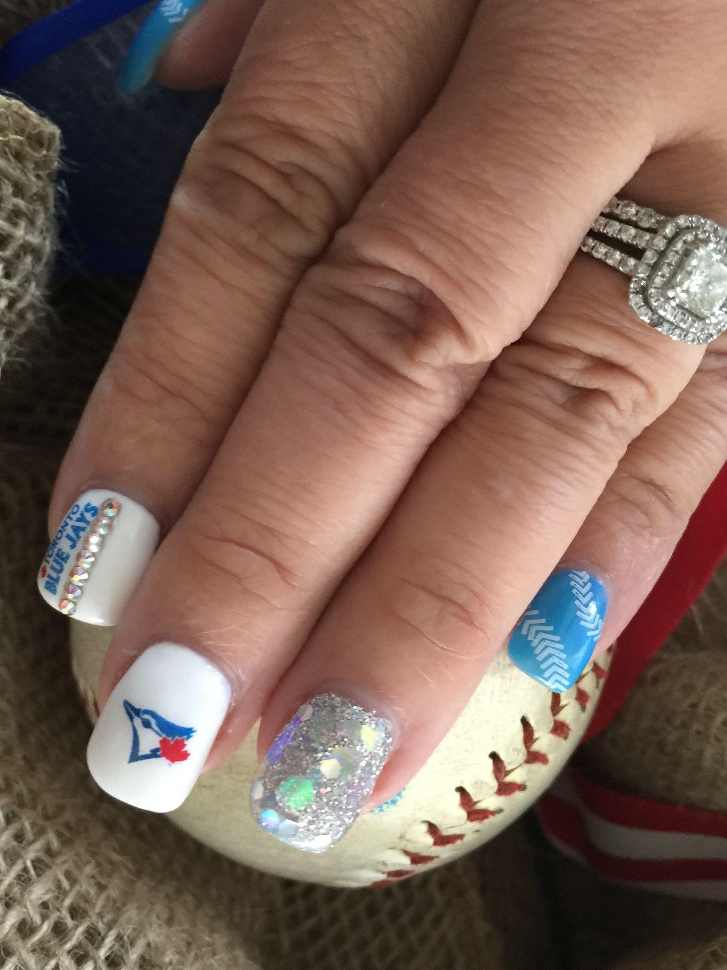 Toronto Blue Jays Gel Nails