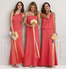 My Bridesmaids Dresses Color Guava Davids Bridal