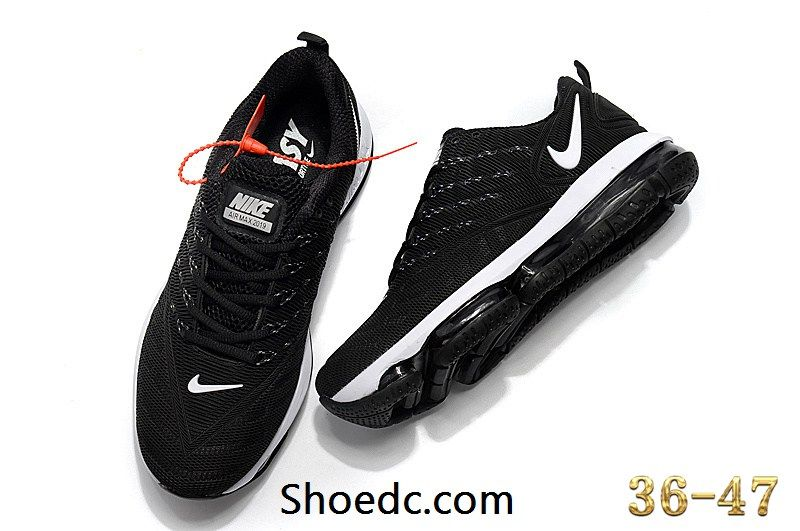 best deals on pre order for whole family New Coming Nike Air Max 2019 KPU Black White Women Men Shoes ...