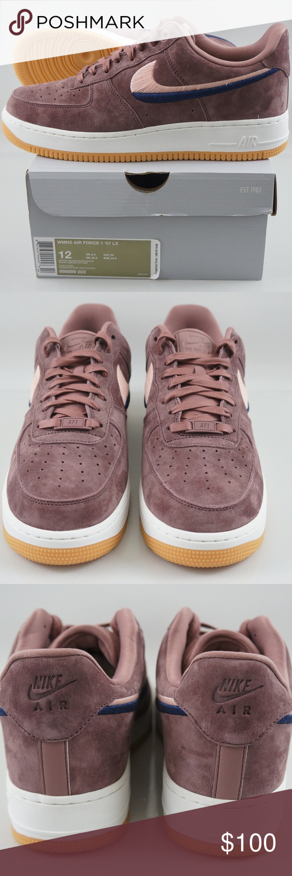 big discount more photos premium selection NIKE WOMENS AIR FORCE 1 '07 LX SIZE 12 ITEM: NIKE WOMENS AIR ...